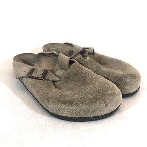 Birkenstock Boston Suede Leather Clogs 39